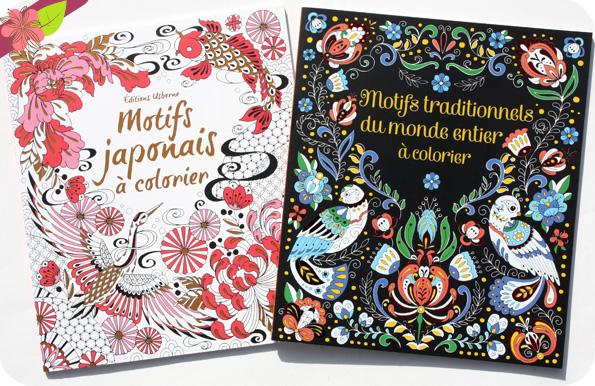 Motifs traditionnels du monde entier à colorier et Motifs japonais à colorier - Usborne