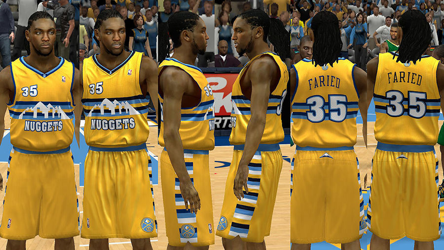 outlet store e5795 f75f4 NBA 2K14 Denver Nuggets Jersey Pack - NBA2K.ORG