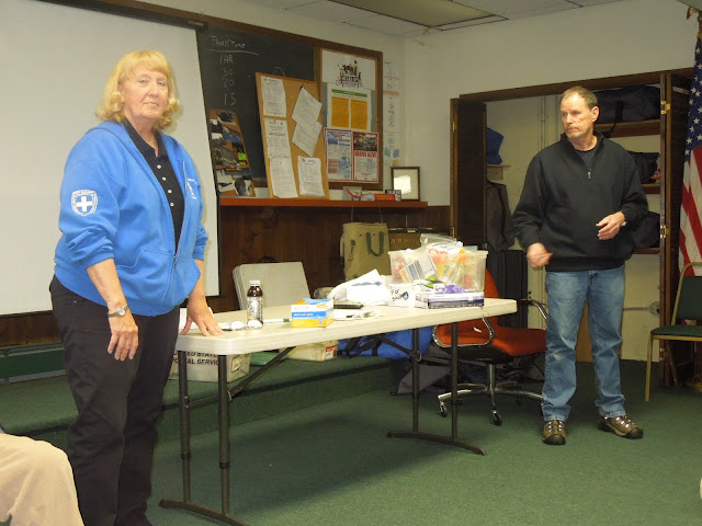 F.Melo, T.Conroy of Pt. Beach 1st Aid Squad provide CPR-1st Aid training