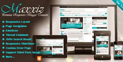 Download gratis template blogspot premium Maxxiz v.1.3 Responsive