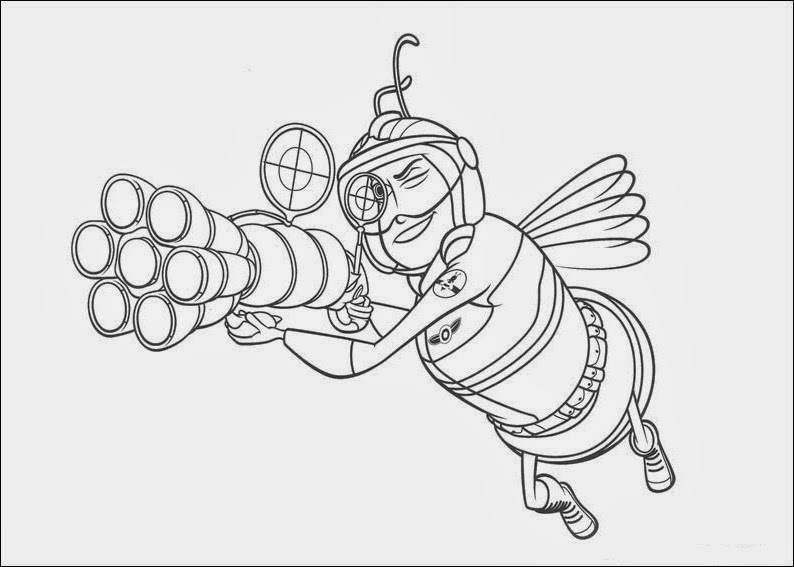 Fun Coloring Pages Bee Movie Coloring
