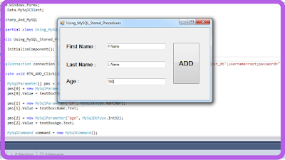 call stored procedure in c#