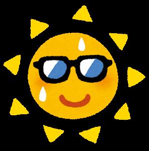 サングラスをかけた太陽のキャラクター(黄)