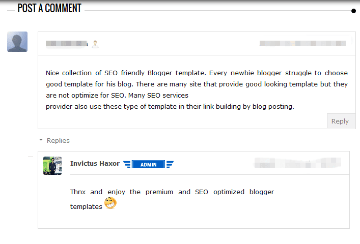 new comment system for blogger