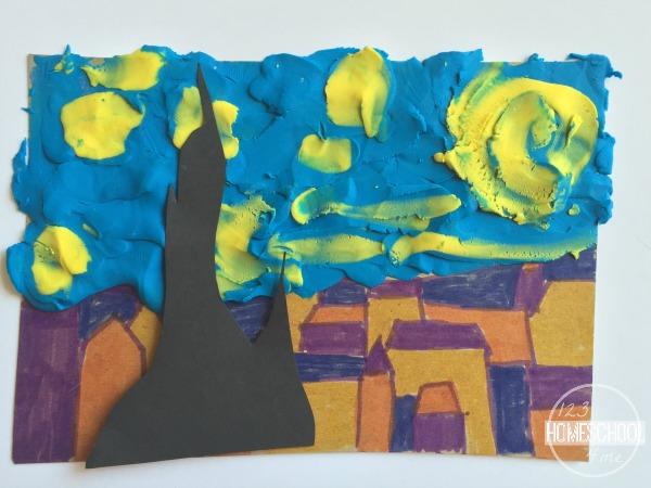 van gogh famous artist project for kids