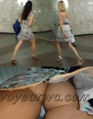 Upskirts N 2573-2592 (Subway station upskirt with amateur girls)