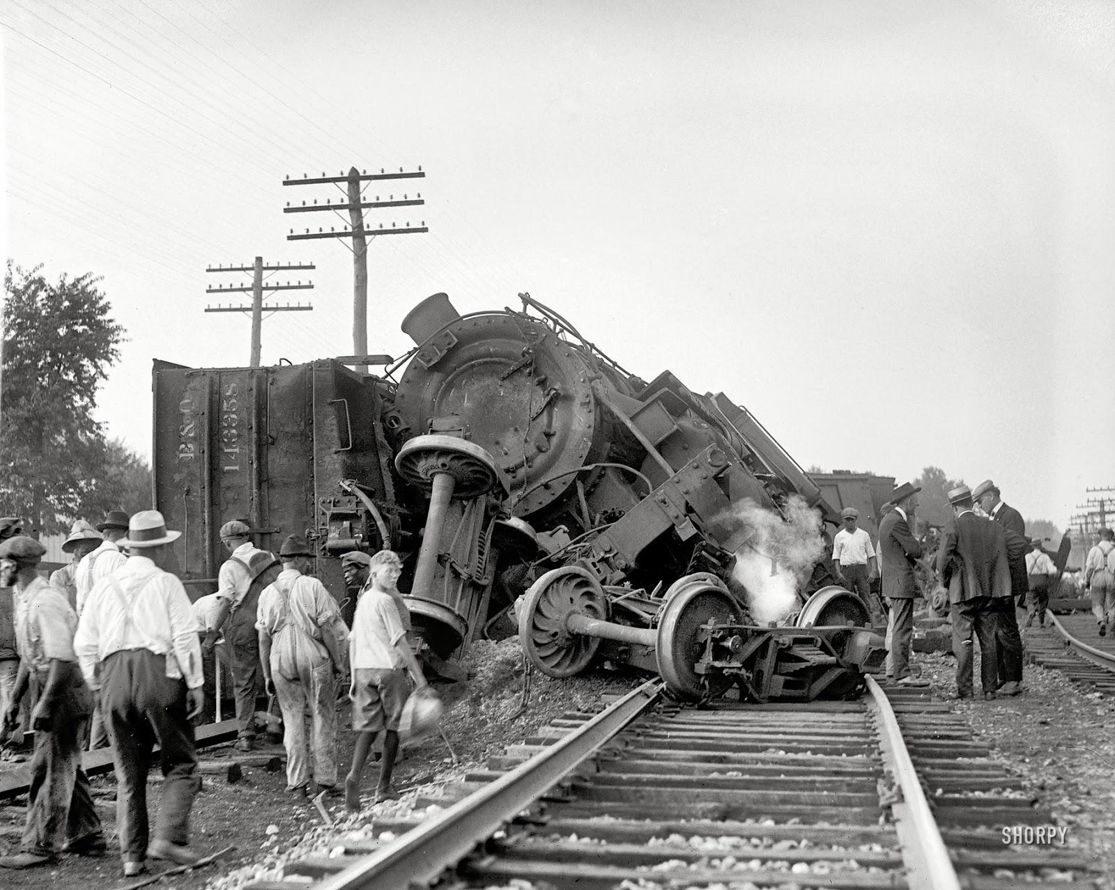 Just A Car Guy: Bad train wreck, great photo  |Rail Road Train Wreck