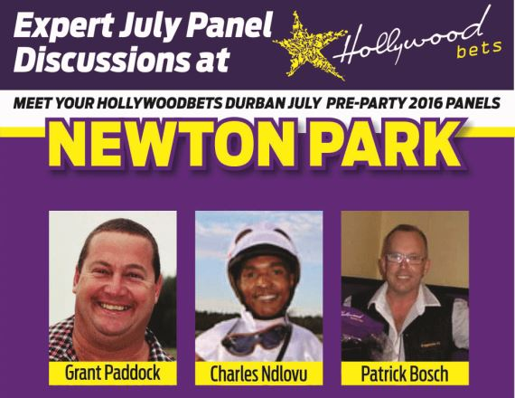 Hollywoodbets Durban July Pre-Party - Newton Park Panel - Grant Paddock, Charles Ndlovu, Patrick Bosch