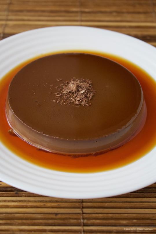 bavarois de chocolate y café