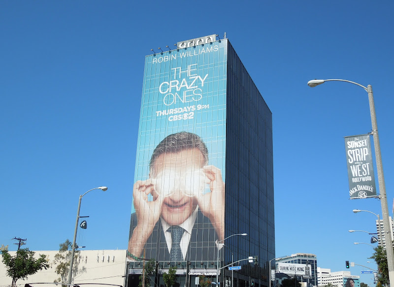 Robin Williams Crazy Ones giant billboard