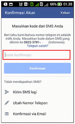 Cara Mendaftar Facebook Lewat Hp Android