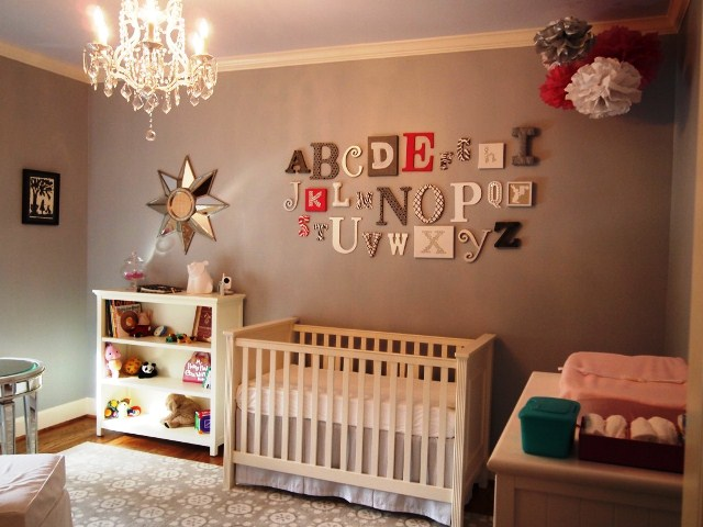painted letters for baby boy room