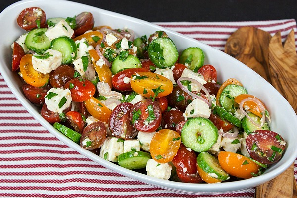 Tomato Cucumber Feta Salad from Don't Sweat the Recipe