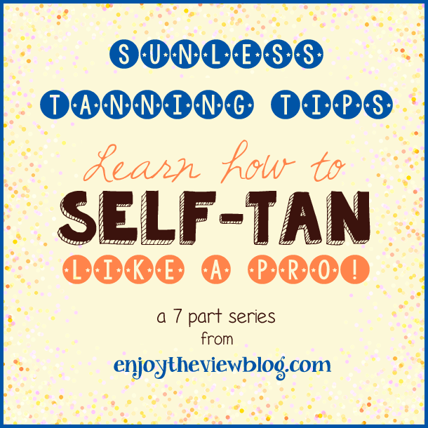 "Sunless Tanning Tips Series: Part 3 - Tools - tips on choosing the right sunless tanning tools to give you a perfect sunless tan! Third part in a series of sunless tanning tips where you can ""Learn how to Self-Tan Like A Pro""!"