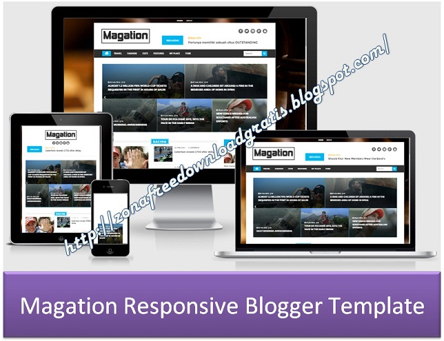 Magation Responsive Blogger Template