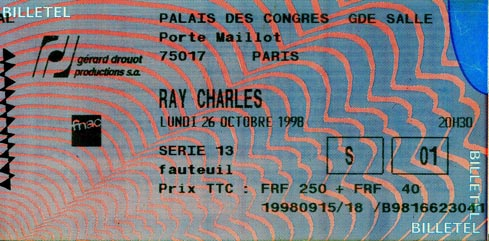 Fauteuil Met Hokker.Ray Charles Video Museum Ray Charles Is In Town Chronology 1998