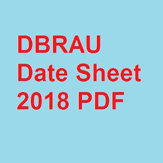 DBRAU Date Sheet 2018 PDF
