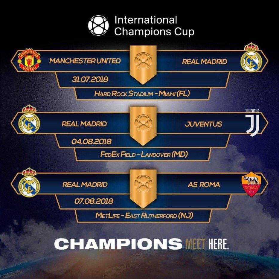 جدول وموعد مباريات ريال مدريد التحضيرية لموسم 2019