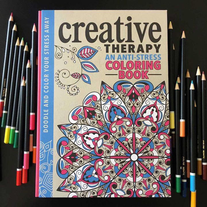 Libro para colorear Anti Stress promete una divertida y creativa terapia a los adultos