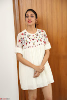 Lavanya Tripathi in Summer Style Spicy Short White Dress at her Interview  Exclusive 297.JPG