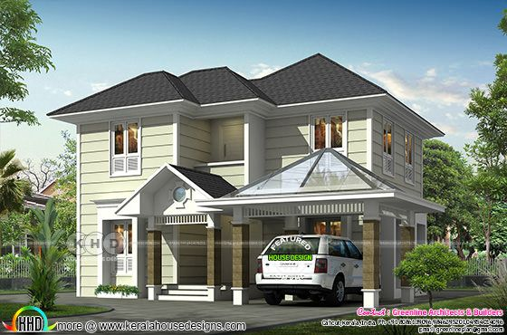 4 BHK Victorian model house plan
