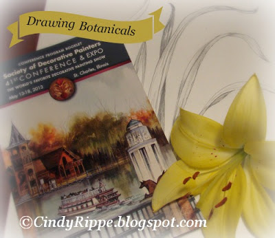 Society of Decorative Painters, Drawing class, Lily, Botanical Art, Inspiration, Florals-Family-Faith, Cindy Rippe Artist