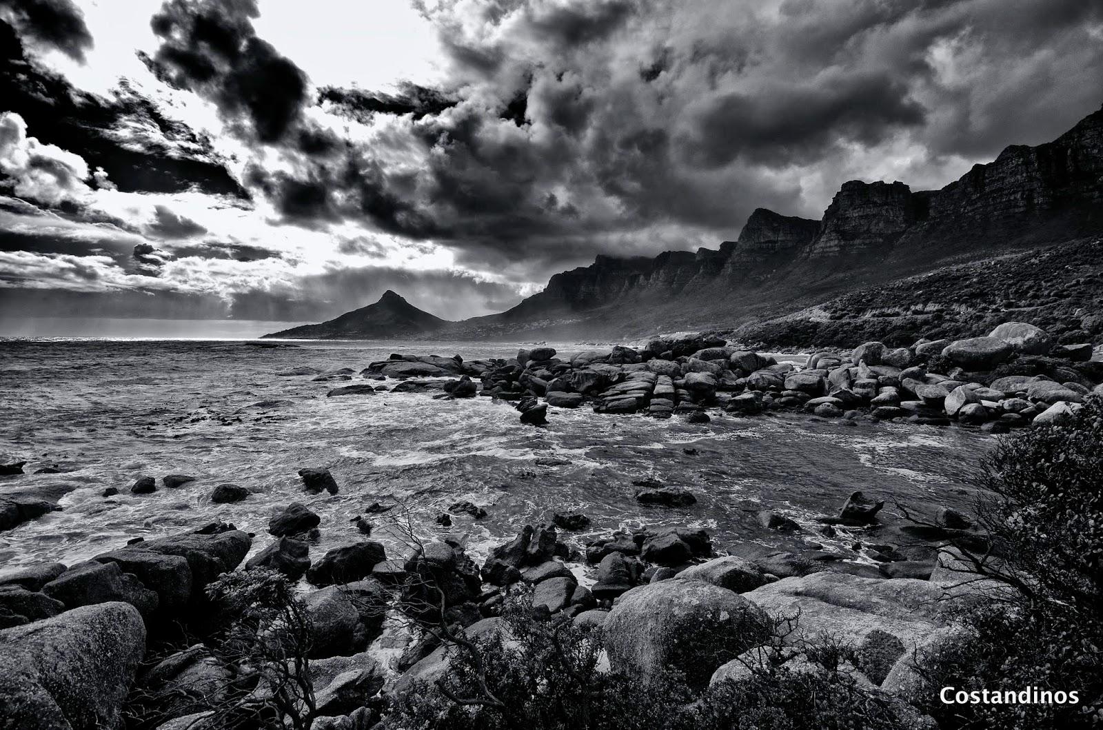 Twelve apostles lions head oudekraal cape town landscape photography black white photography