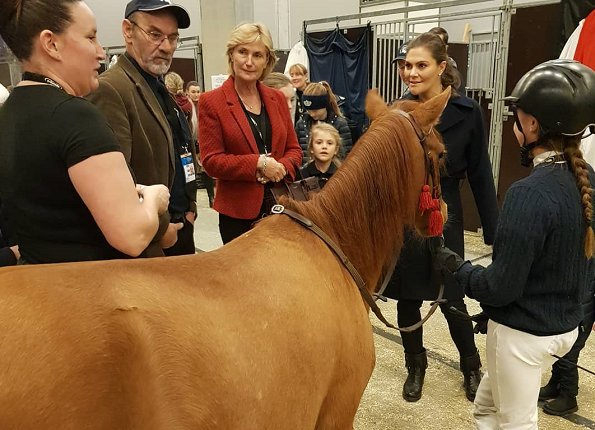 Crown Prenses Victoria and her daughter Estelle attended the family matinee of Sweden International Horse Show 2018