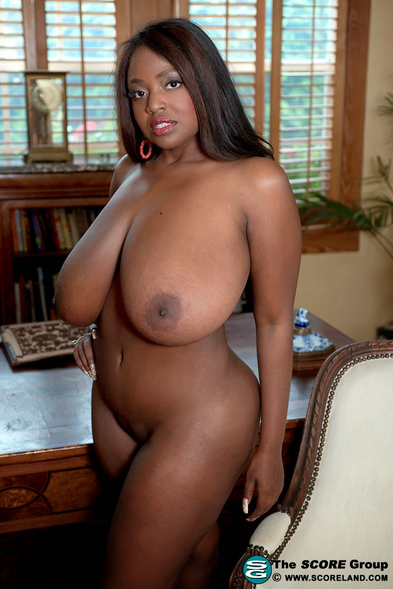 naked black woman with mega boobs