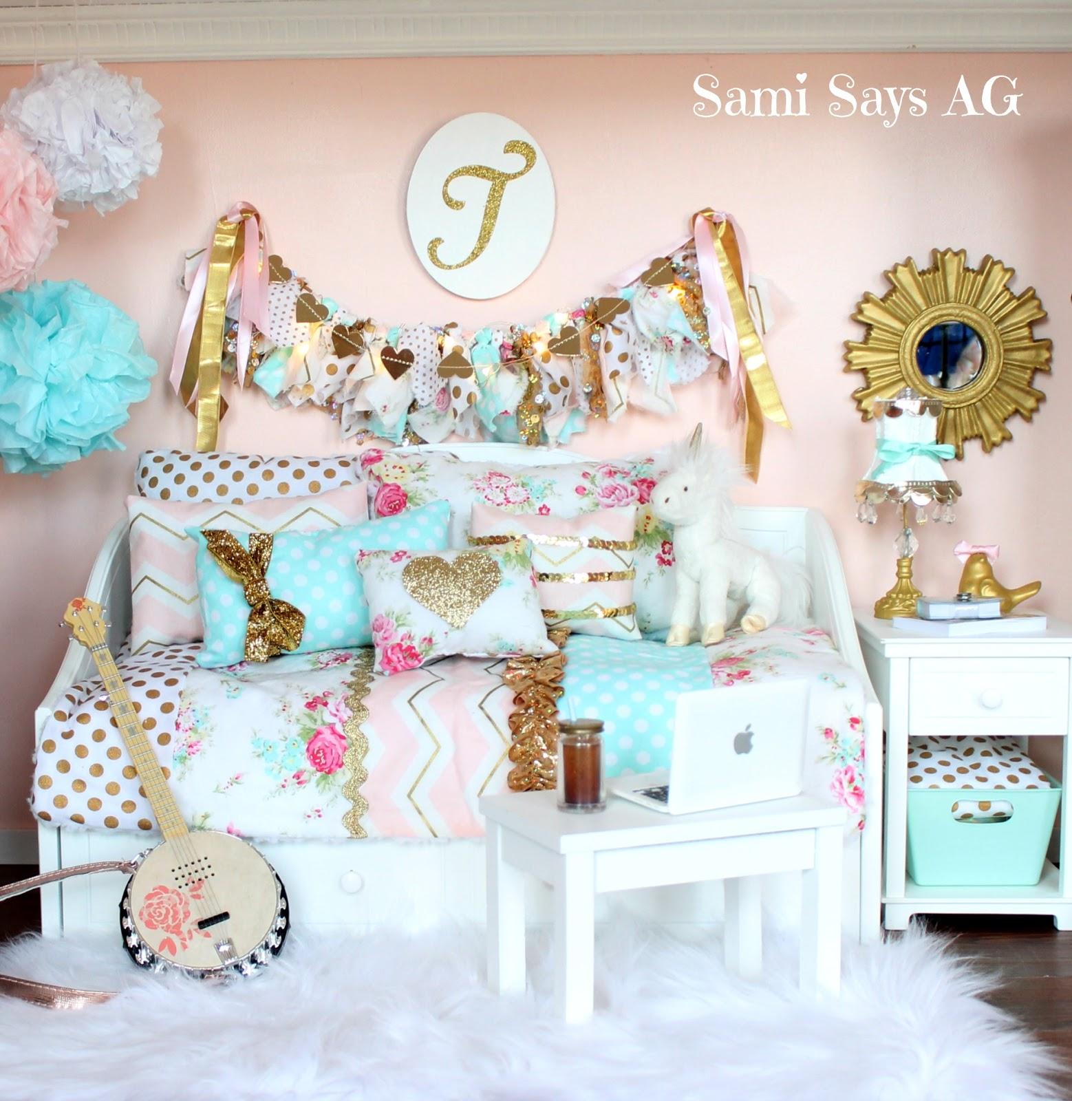 American Girl Doll Living Room Furniture: Sami Says AG: American Girl Tenney Grant's Doll House Room