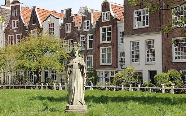 Informações sobre o Jardim Begijnhof em Amsterdã