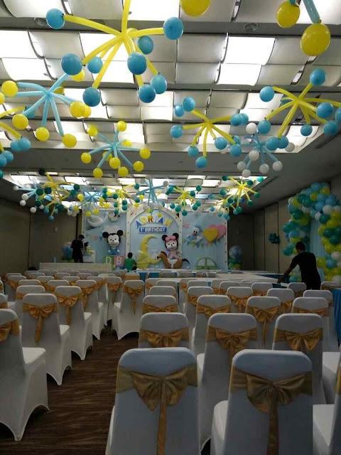 dekorasi balon ultah anak tema mickey & minnie mouse