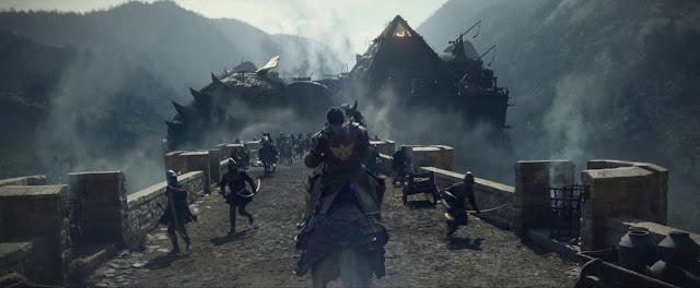 Eric Bana cabalgando contra los elefantes de Mordred