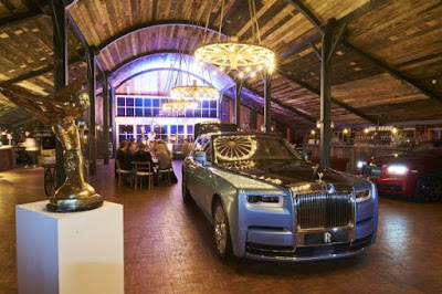 A Rolls-Royce on display at a Cars and Cognac event hosted by the automaker.
