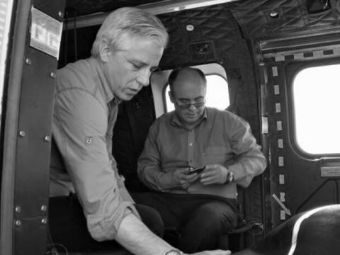 Álvaro García Linera, Vicepresidente junto al ministro de Defensa, Reymi Ferreira
