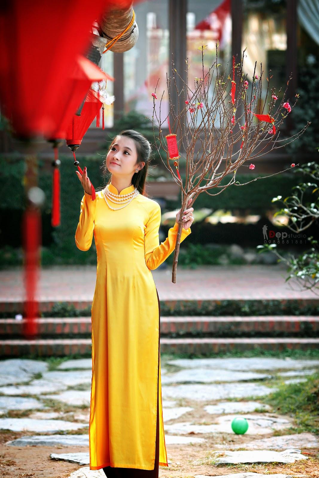 Ảnh đẹp girl xinh Áo dài truyền thống Việt Nam - Ảnh 19