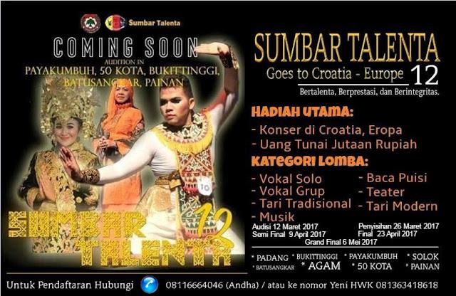 Poster Sumbar Talenta XII (Dokumentasi DIATUNES)