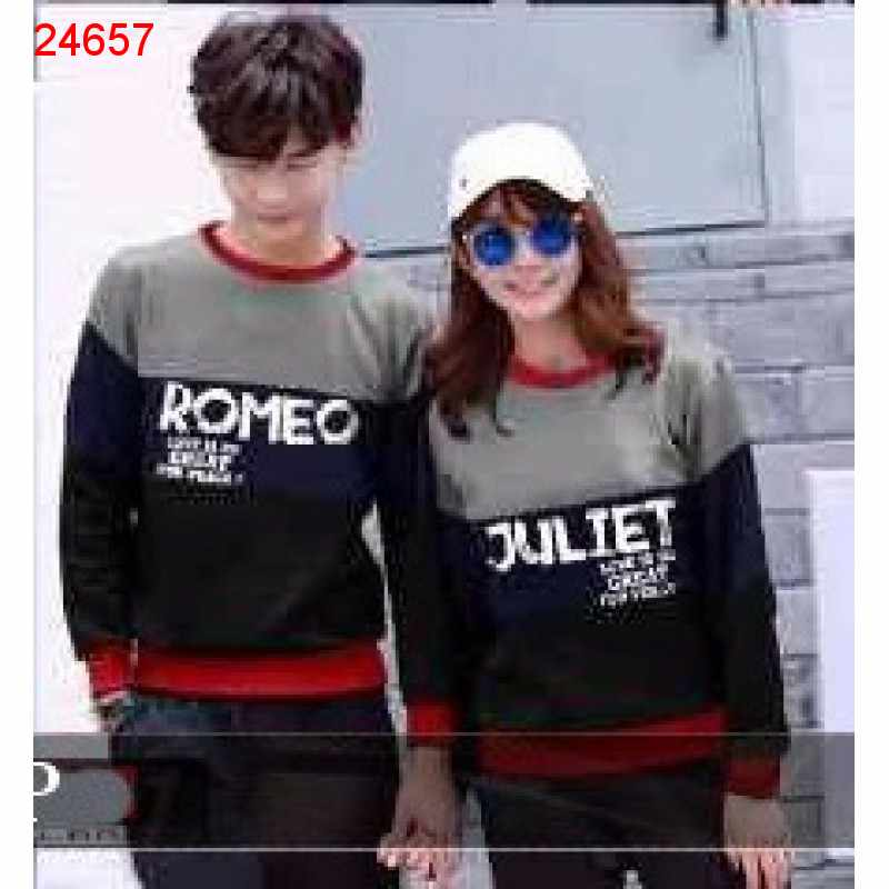 Jual Sweater Couple Sweater Romeo Juliet Abu - 24657