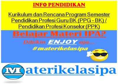Kurikulum dan RPS PPG-BK - Pendidikan Profesi Konselor (PPK)