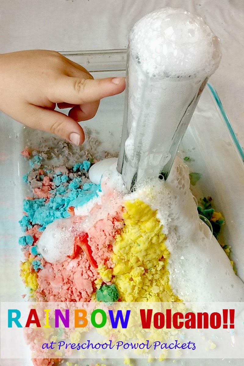 volcanoes for preschoolers preschool science experiment rainbow volcano preschool 488