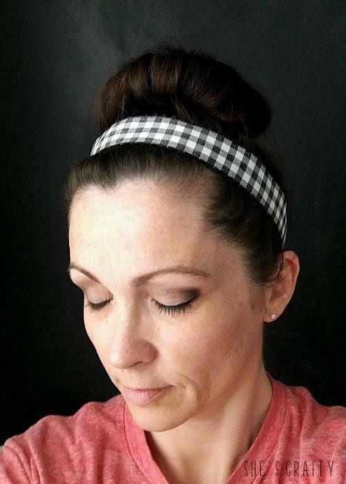 How to make a buffalo check headband from ribbon and elastic