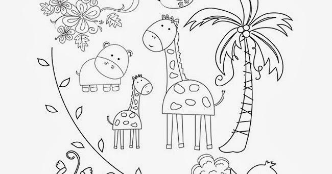 Mundo Bichejos: Dibujos De Animales Salvajes Para Colorear