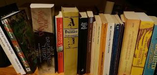 das Bild zeigt viele Bücher in einem Regal