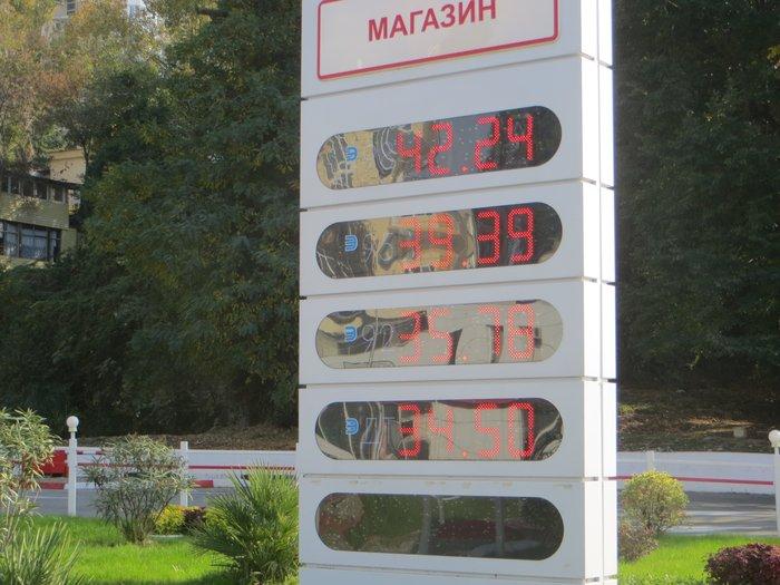 Цены на бензин в Сочи