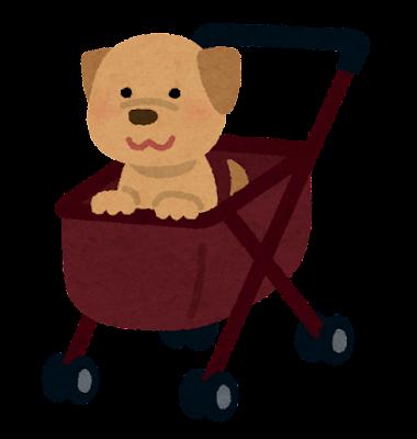 ペットカートのイラスト(犬)