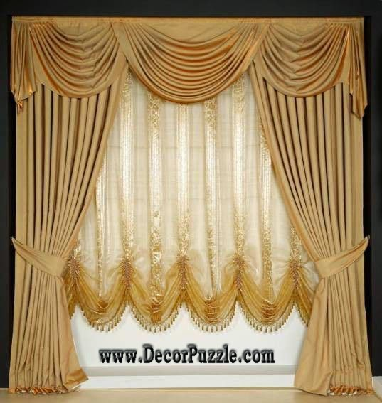 luxury classic curtain style 2017, royal curtain designs and drapes