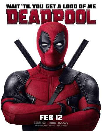 Poster Of Deadpool 2016 Dual Audio 300MB HCHDRip 480p Free Download Watch Online