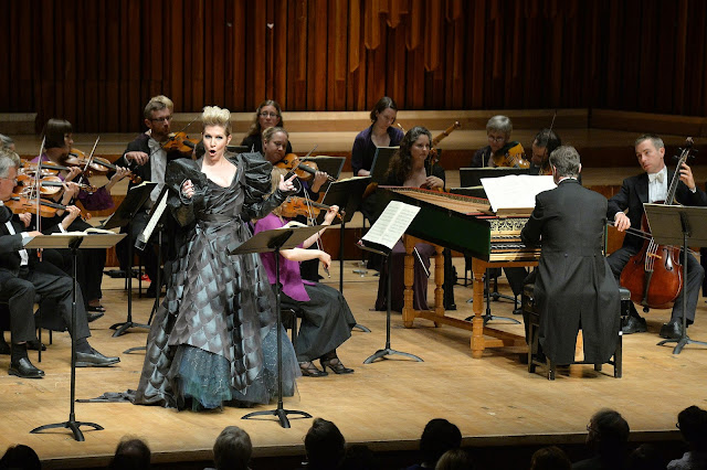 Joyce Di Donato in Act 1 of Handel's Alcina  in 2014 with Harry Bicket and the English Concert photo credit Mark Allan/Barbican