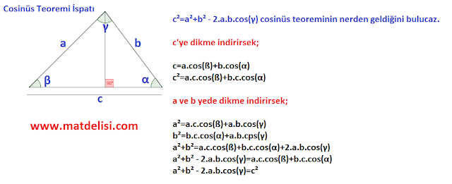 cosinüs teoremi