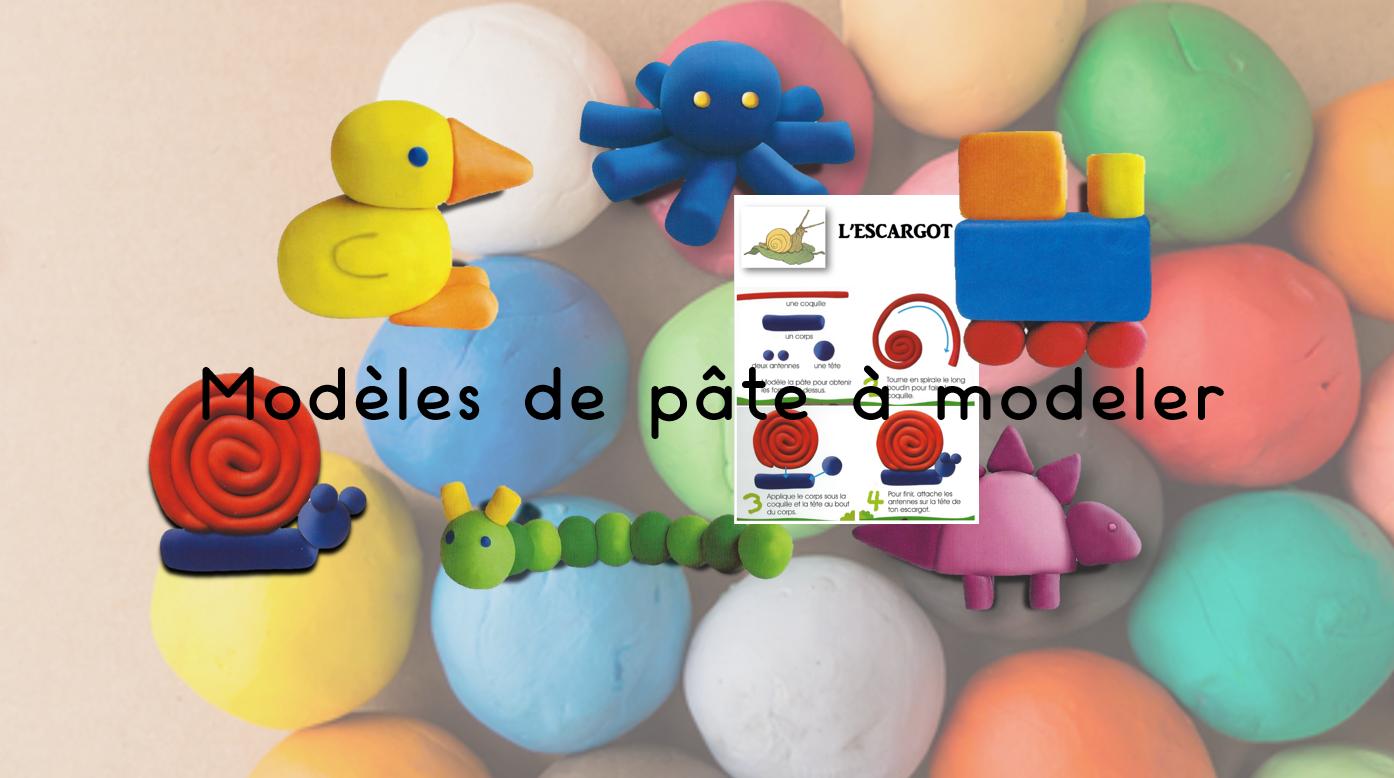 Les jeux de Jean Noël : Modèles de pâte à modeler